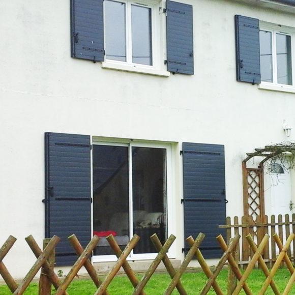 Volets battants Giteau menuiserie Sarthe 72 Sablé-sur-Sarthe