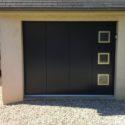Porte de garage battante Mayenne Giteau menuiserie Mayenne