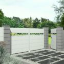 Art et portail entrée avec portail et portillon