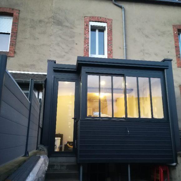 Verrière extérieure ouverture cuisine